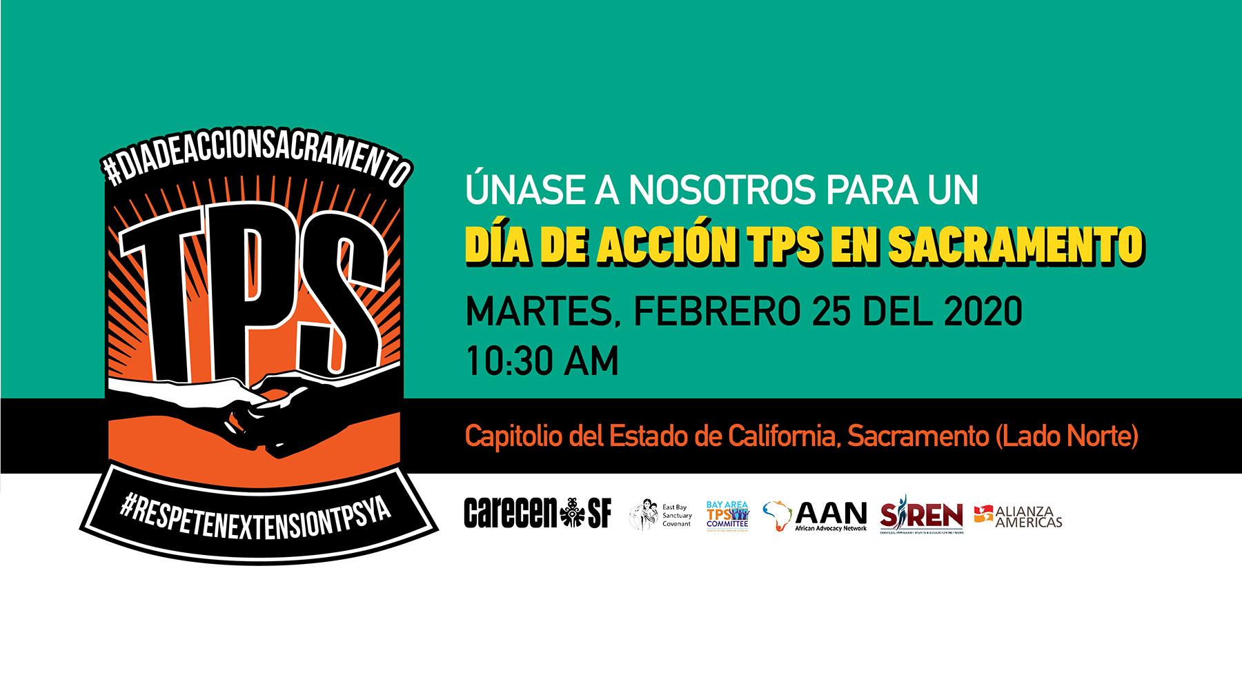 Día de Acción TPS en Sacramento