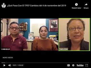 ¿Qué Pasa Con El TPS? Cambios del 4 de noviembre del 2019